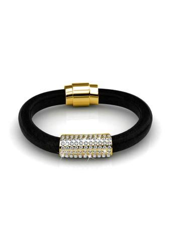 Her Jewellery gold Swarovski® Crystals -Luxx Bracelet (Yellow Gold) (18K Yellow Gold Plated) Her Jewellery HE581AC0RVEMMY_1