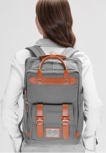 Gaston Luga grey Gaston Luga Tas Punggung - Backpack Biten Grey 314DCAC3F144F1GS_1