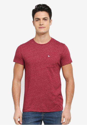 Jack Wills red Ayleford T-shirt E6607AA11EE455GS_1