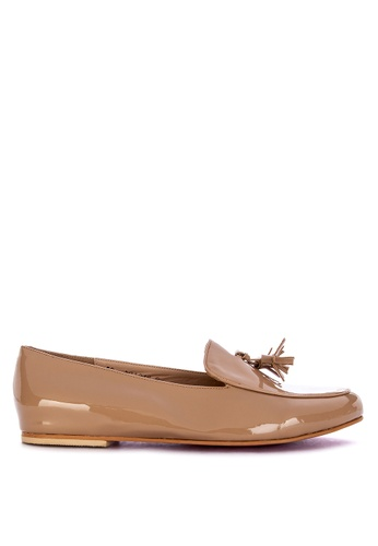 CARMELLETES beige Patent Loafers With Tassle 0F949SH7C0397BGS_1