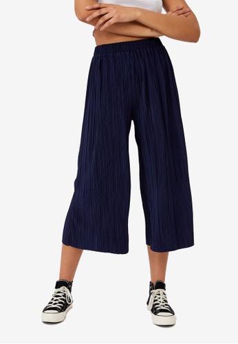 Cotton On navy Poppy Pleated Pants 0B7C4AAD4BC680GS_1