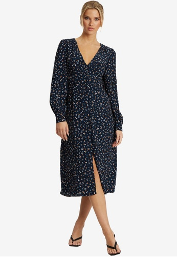 Savel navy Hanita Midi Dress CA214AAE02A560GS_1