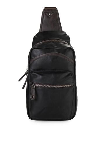 Urban State black Tas Pu Zipper Slingbag UR647AC33NYGID 1 f38ae7a3de