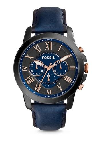 Fossil black and blue Blue/Black-Fossil Grant FS5061 FO164AC50LZDMY_1