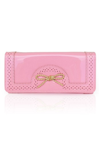 VERNYX - Woman's Line Pattern Wallet DO306 Pink - Dompet Wanita