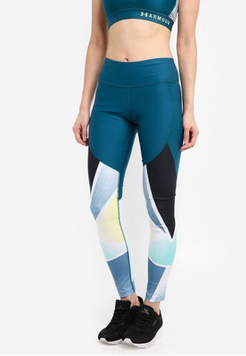 Under Armour green Balance Q1 Graphic Leggings UN337AA0SU4VMY_1