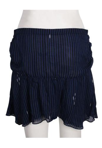 Isabel Marant blue isabel marant Silk Blue Print Mini Skirt 709FBAABEED1A4GS_1