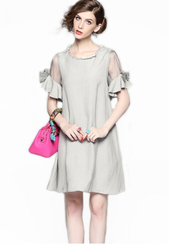 Sunnydaysweety grey Collectibles New Lotus Sleeve One Piece Dress A061616GY 3A01AAA5ADD14CGS_1