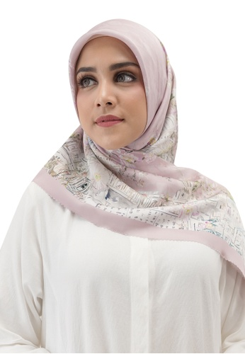 Buttonscarves pink Buttonscarves British Satin Square Pale Blush BFE3BAA1438C28GS_1
