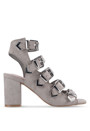 TOPSHOP grey Naomi Buckle Heels TO412SH83VTKMY_1