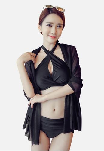 Halo black (3pcs) 2 Way Black Bikini Set HA405US0FAL2SG_1