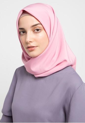 HAZELNUT pink Luna Square Hijab BA4A3AAB65FD21GS_1