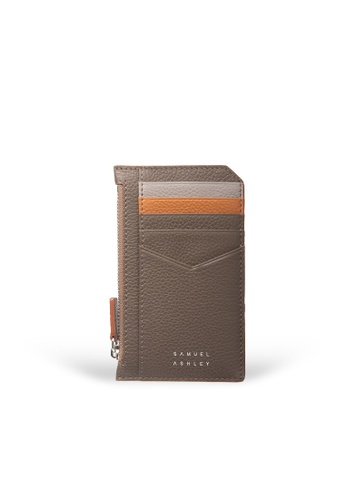Samuel Ashley brown Nicky Card Case with Zip Pocket - Mocha F9445AC22A113DGS_1