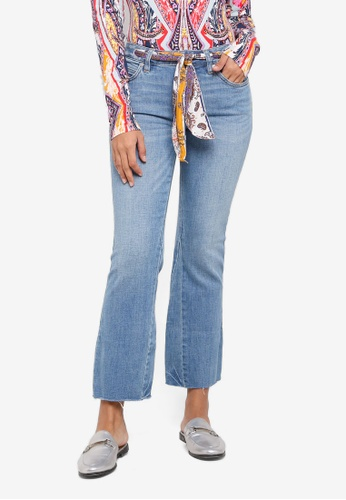 Free People blue Belt Out Crop Boot Leg Jeans 8478CAAD9D19E3GS_1