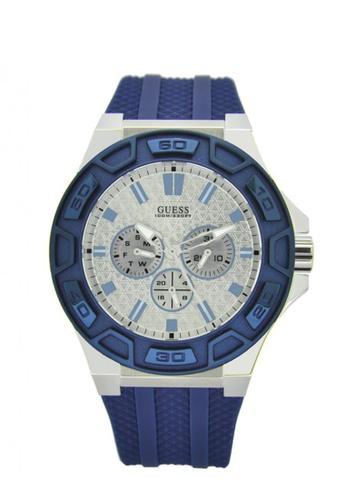 Guess Watches blue and silver Men's Chronograph Quartz Bracelet Watch GU179AC59IHSSG_1