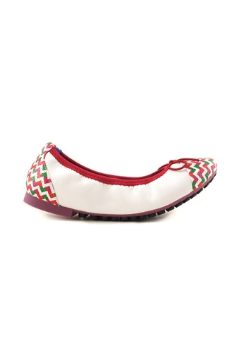 Flatss & Heelss by Rad Russel white Multi Coloured Toe Cap Flats FL655SH00SYTSG_1