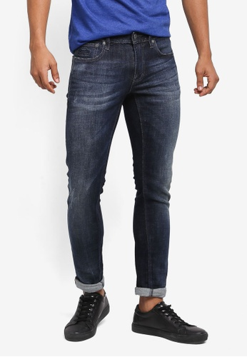 Superdry blue and multi Skinny Jeans 08BD5AA48C6B24GS_1