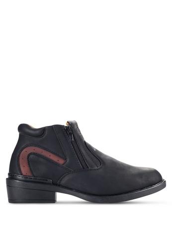 Louis Cuppers black Side Zip Up Boots LO977SH17VOCMY_1