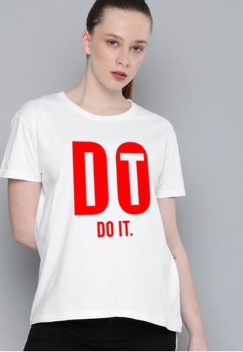 Greatvalueplus white Do it Women's Round Neck Statement T-Shirt DBF3BAAFC03D0DGS_1
