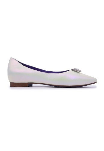Flatss & Heelss by Rad Russel white Pointy Embellished Flats - White 28595SHB60211AGS_1