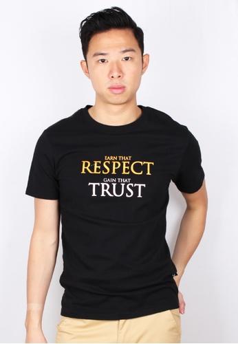 Moley black EARN THAT RESPECT GAIN THAT TRUST T-Shirt 98FF9AA3E2DE1BGS_1