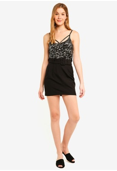 61621f6d7e38c Miss Selfridge Gunmetal Beaded Camisole Top RM 209.00. Sizes 6 8 10 12