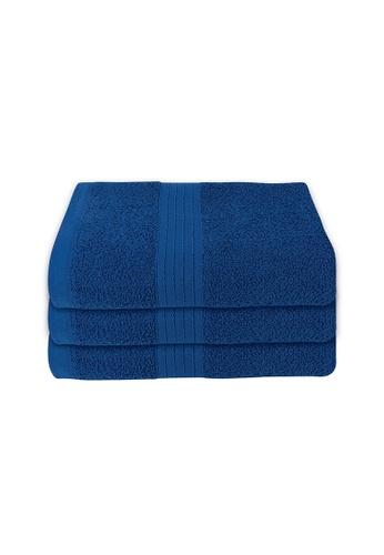 Milton Home SET OF 3 Milton Home Juro -SBT 100% Cotton Sports Bath Towel 60x110cm/ 270g. 7AD96HLA8CDF10GS_1