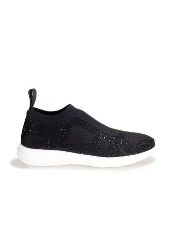 Shu Talk black Amaztep Stretch Yarn Comfortable Sneakers 773C5SHC46A453GS_1