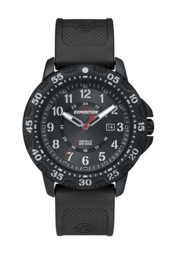 TIMEX black Timex Expedition® Rugged - Resin Black Resin Strap Watch TI857AC16CQPSG_1