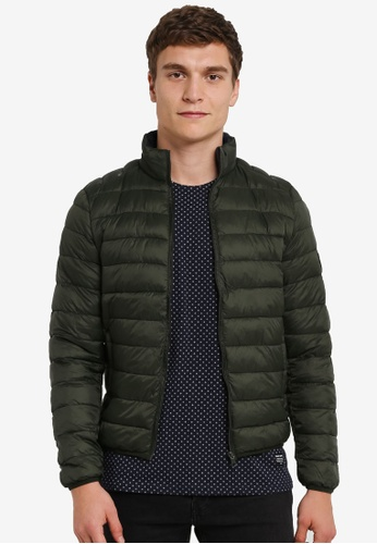 !Solid green Kendrick Medium Quilted Bomber Jacket SO701AA0S2VZMY_1