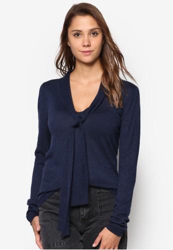 前繫帶長袖衫,esprit outlet尖沙咀 服飾, 上衣