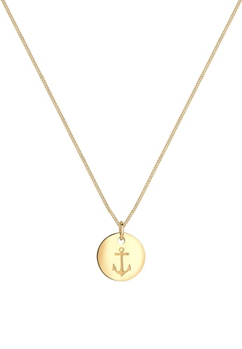 ELLI GERMANY gold Elli Germany Necklace Necklace Anchor 925 Sterling Silver Gold-Plated 0B73CAC4CC2299GS_1