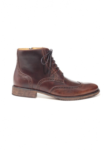 Gino Mariani brown Gino Mariani Men's Leather Shoes VALENZ 1 - DK BROWN F3CD4SH6965D15GS_1