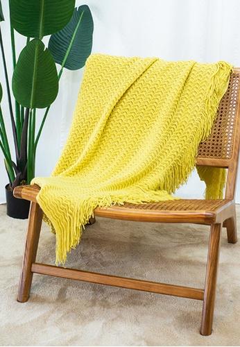 Milliot & Co. yellow Wayne Blanket E1806HL6482122GS_1