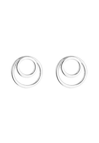 ELLI GERMANY silver Elli Germany Earring Circle Rings Basic Geo Minimal 925 Silver 56216AC4057734GS_1