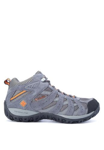 Columbia grey Redmond Mid Waterproof Men's Shoes   CO143SH0KDEZPH_1
