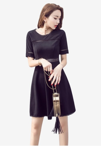 Lara black Stylish One Piece Dress For Women 378AAAA79AD5D3GS_1