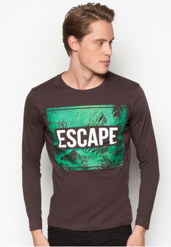圖文設計長袖衫esprit分店, 服飾, T恤