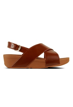 7045eef1ed27 Fitflop brown Lulu Cross Back-Strap Sandals-Leather 42C12SH4EF961DGS 1