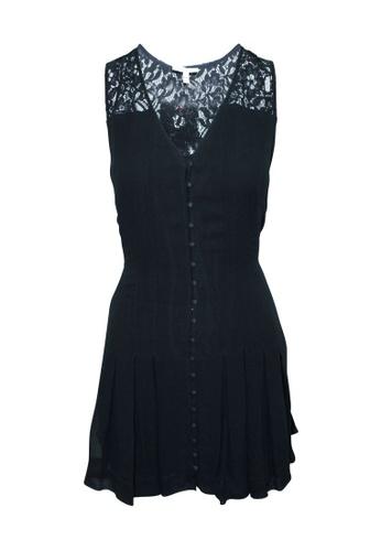 JOIE 黑色 joie 黑色小禮服,配以鈕扣和褶皺 74779AAD62A43AGS_1