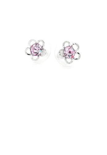 Glamorousky purple Flower Shape Pair Earrings with Purple Austrian Element Crystals DA1E8AC400AF6BGS_1