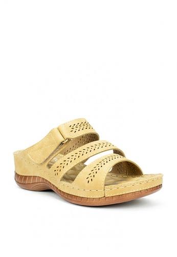 Mario D' boro Runway beige LS 93241-Tan-Sandals 14BDCSH5DF6E74GS_1