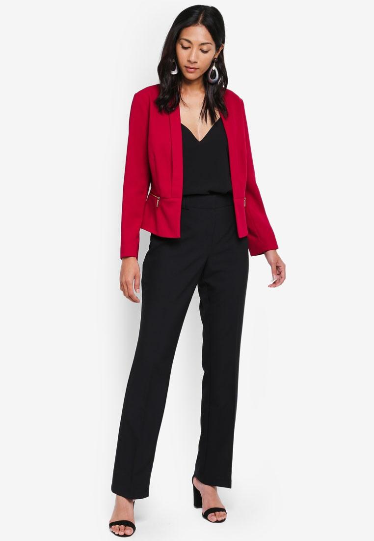 Dorothy Pink Jacket Raspberry Perkins Zip Cropped FqrFU0