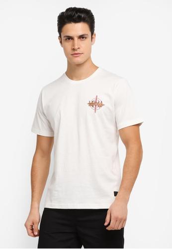 Flesh IMP 白色 Def Printed T-Shirt FL064AA0SJNNMY_1