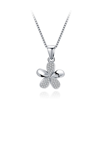 Glamorousky white 925 Sterling Silver Elegant Simple Fashion Four Leaf Clover Pendant Necklace with Austrian Element Crystal F1FACACDED5254GS_1
