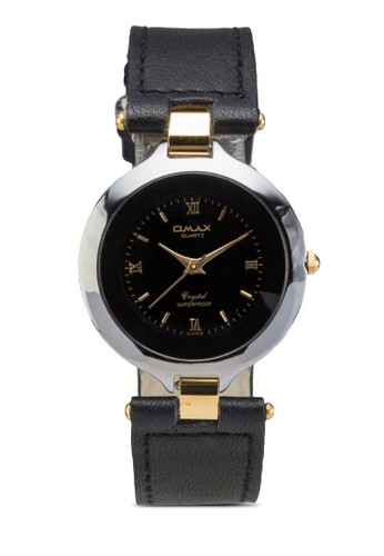 esprit hk storeOMAX TW1996GN 水晶圓框仿皮手錶, 錶類, 其它錶帶