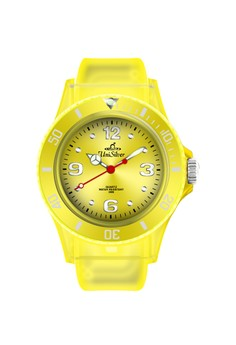 Unisilver TIME Men's Crystal Clear Watch KW1070 -2102 Transparent/Yellow