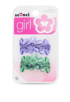 2 Piece Set Gel Flower Ponytailers