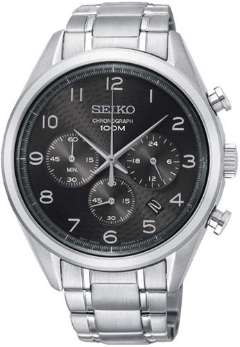 Seiko silver Seiko Black and Silver Stainless Steel Watch 1B104AC351070CGS_1
