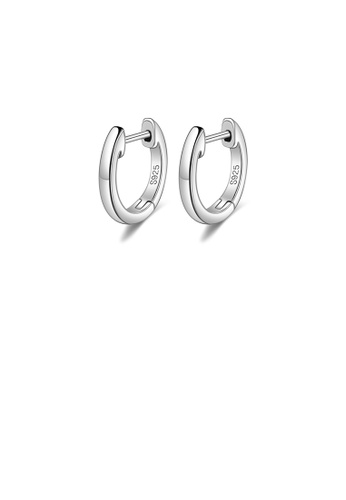 Glamorousky silver 925 Sterling Silver Simple Temperament Geometric Circle Stud Earrings AAEE5AC6EB0B70GS_1